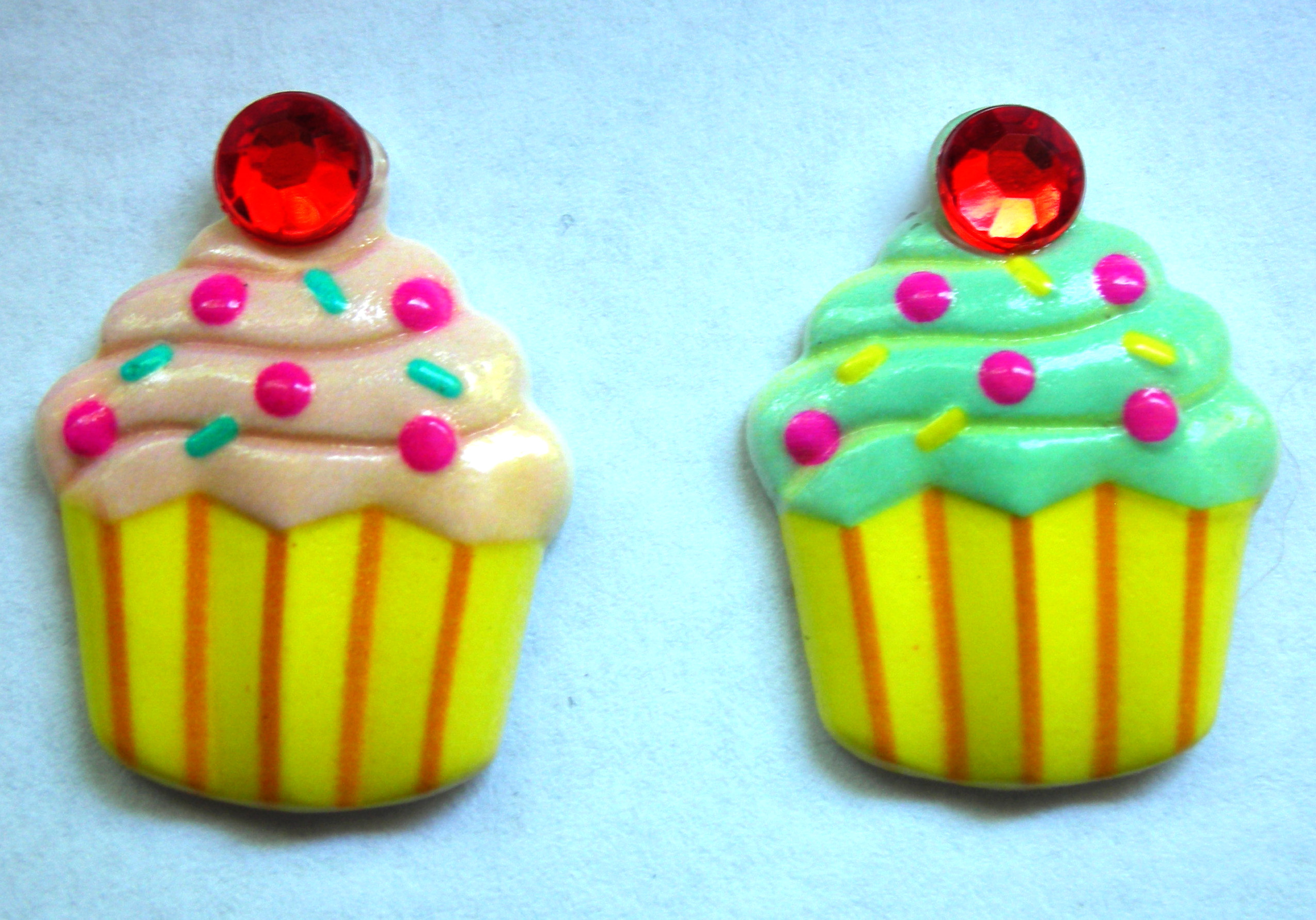 Cupcake Post Earrings · Beauty And Brains Boutique