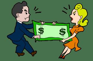 Resultado de imagen de divorcio o separacion dinero
