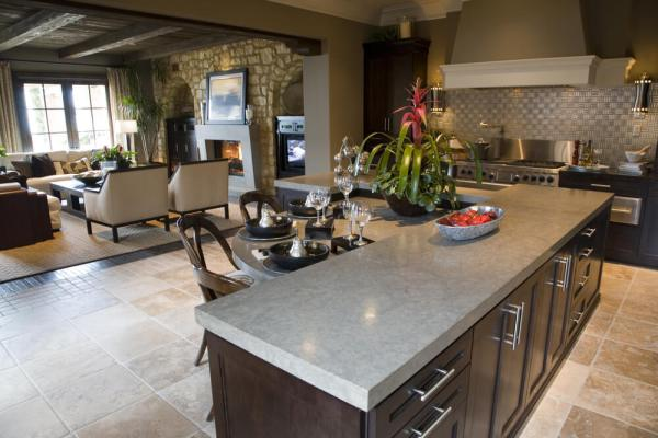 l shaped kitchen island with cabinets and design 64 Deluxe Custom Kitchen Island Designs (BEAUTIFUL)