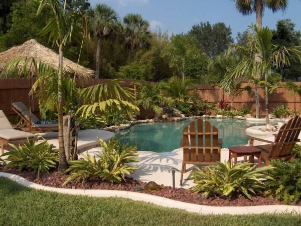 spectacular backyard swimming