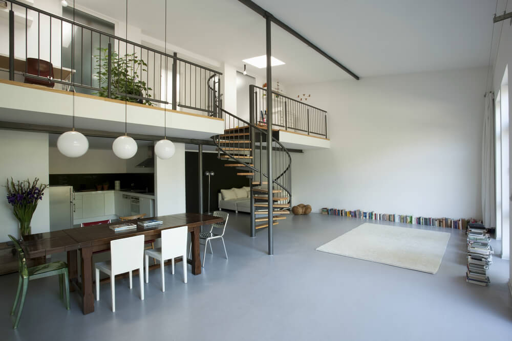 Home with loft walkway