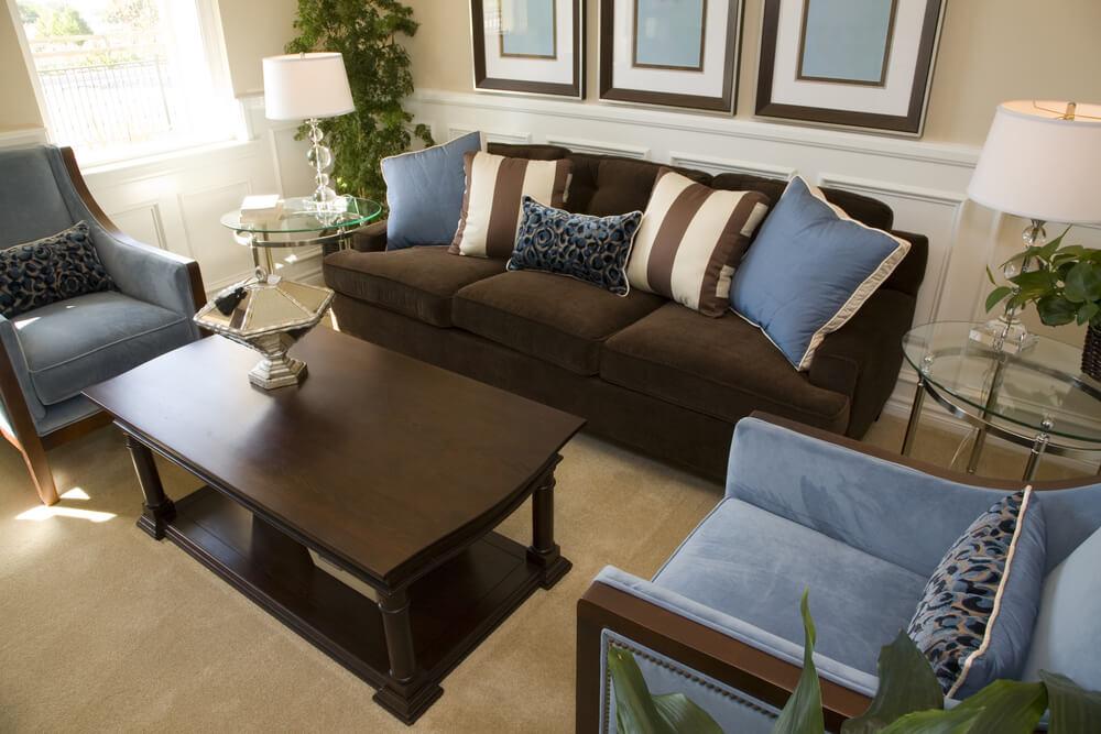 Blue And Brown Living Room Novocom Top