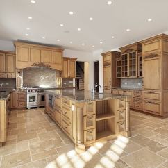 Wood Tile Floor Kitchen Pendant Lighting Over Island 43 New And Spacious Light Custom Designs Employing A Stone Backsplash Sand Colored Flooring Naturally Tones