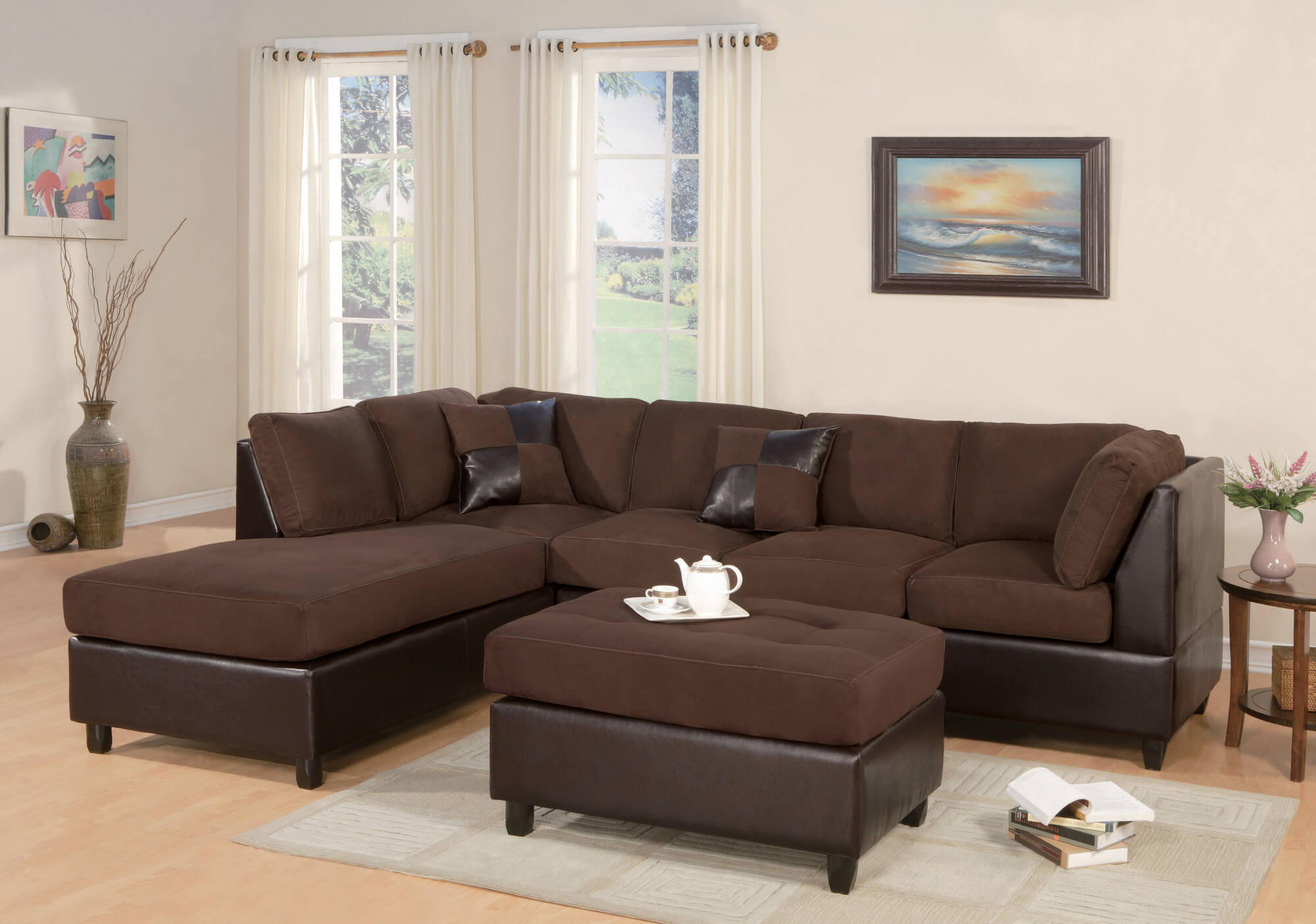 3 piece microfiber sectional sofa with chaise black corner bed leather 37 beautiful sofas under 1 000
