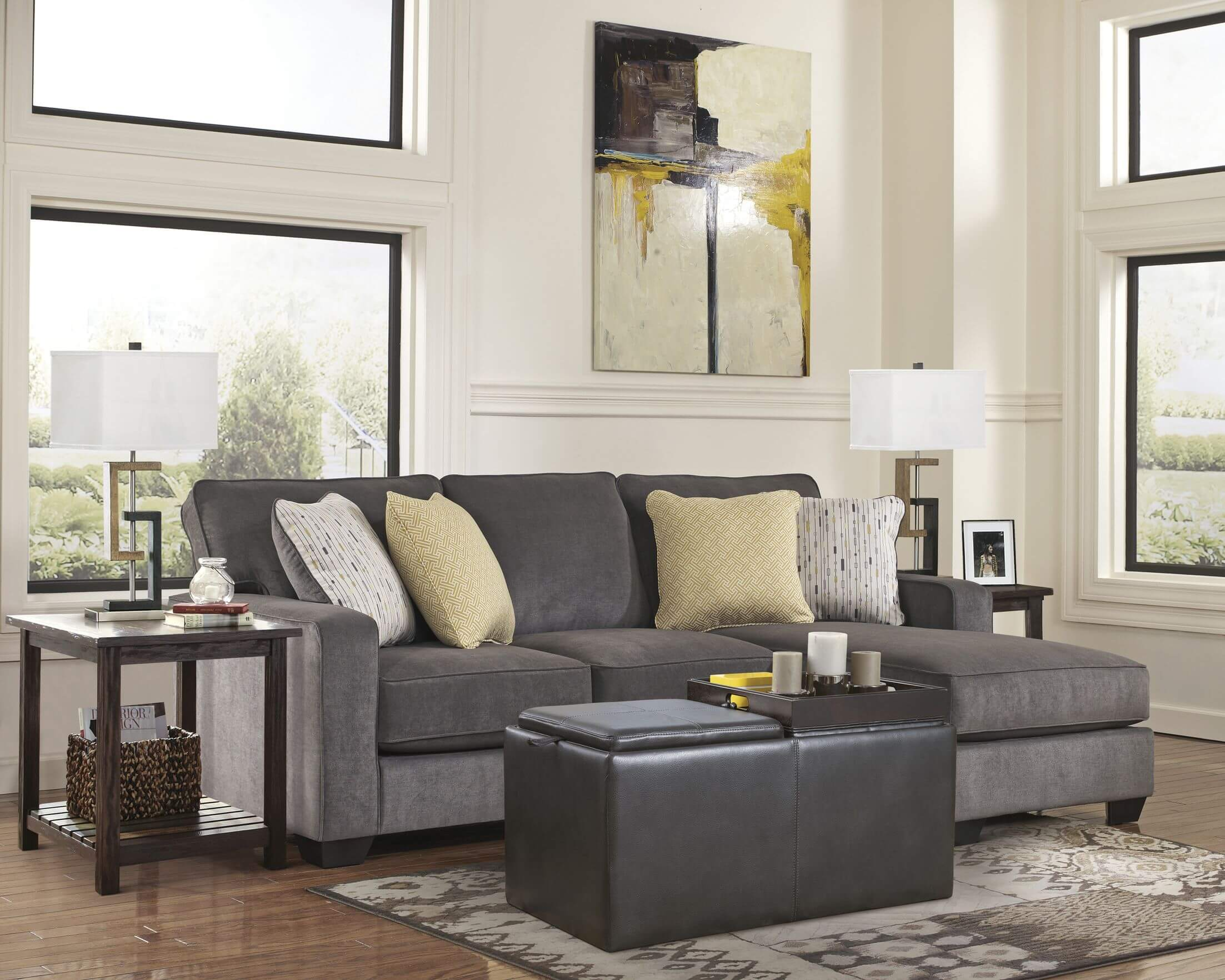 grey sectional living room ideas home images 45 contemporary rooms with sofas pictures this cozy space features a simple and direct cushion backed couch built in