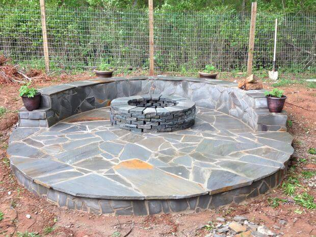 How to Build a Fire Pit with Circular Wrap