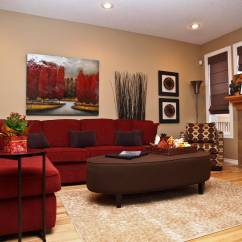 Living Room Red Sofa Drop Leaf Table Antique 47 Beautiful Rooms With Ottoman Coffee Tables