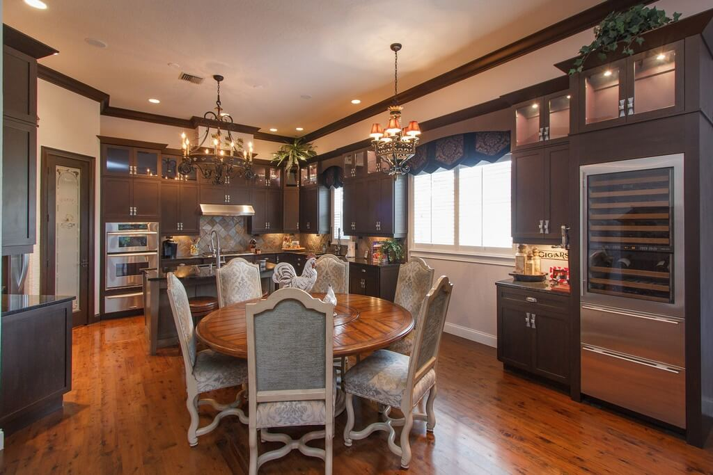 zebra dining chairs pottery barn leather 27 luxury kitchens that cost more than $100,000 (incredible)