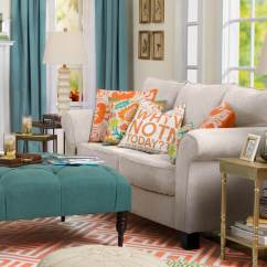 Single Armless Sofa Chair White Country Tables 47 Beautiful Living Rooms With Ottoman Coffee