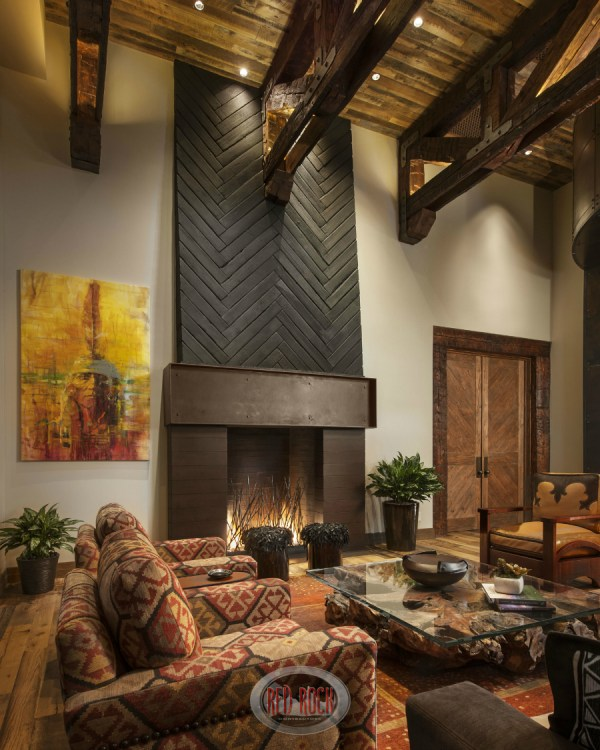 Rustic Living Room Fireplace Ideas Designs