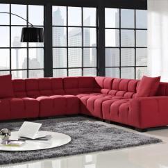 Red Modern Sectional Sofa Sofas Con Estilo Valencia 18 Stylish