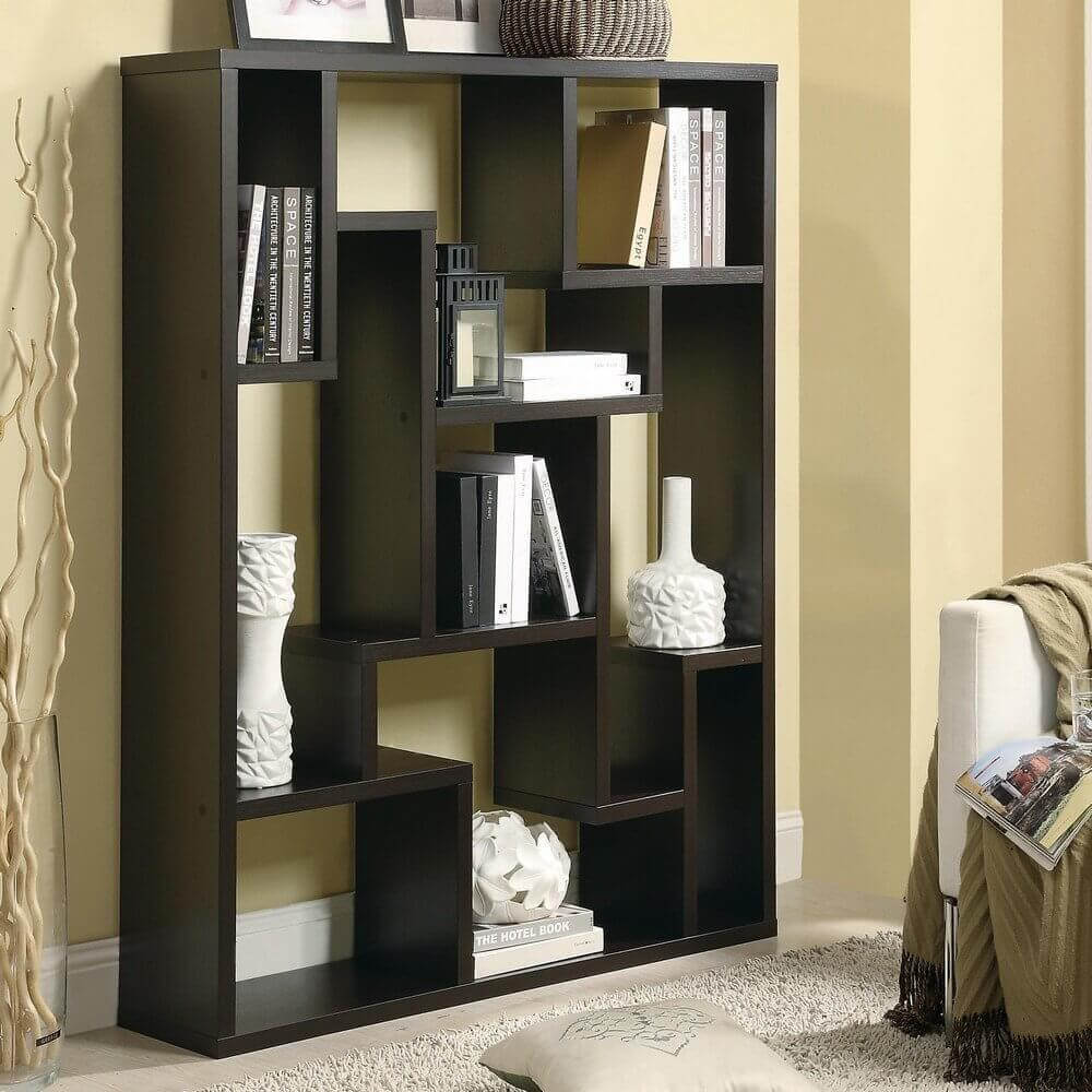 splitting living room into bedroom tv stand twenty 9-cube bookcases, shelves and storage options