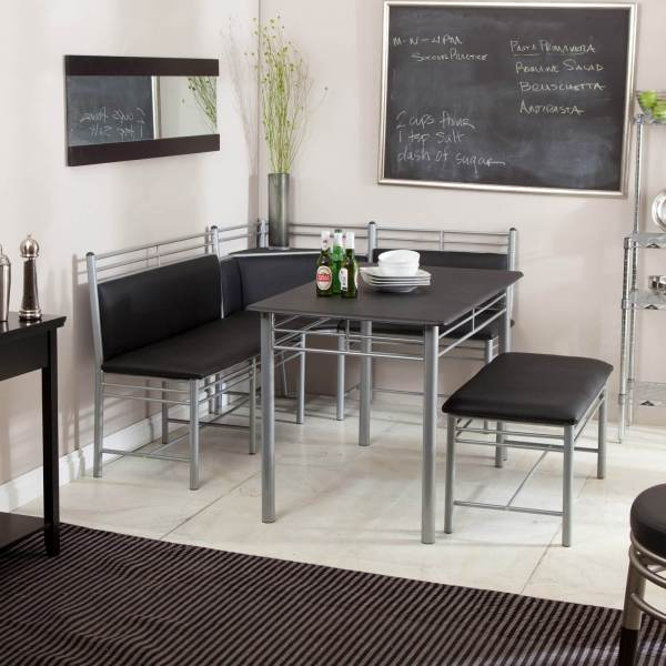 Black Breakfast Nook Dining Set