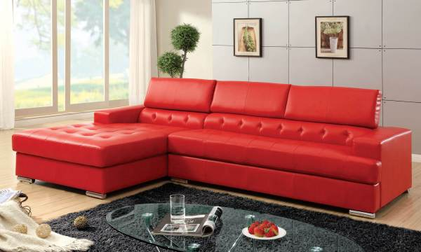 Contemporary Red Modern Leather Sofas - Year of Clean Water