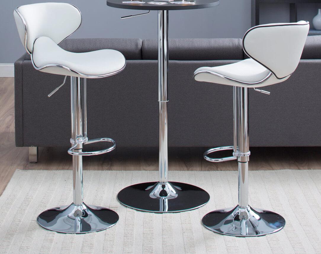 white leather bar chair high office 6way modern stools jpg