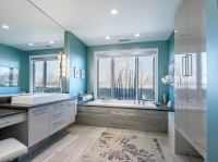 27 Cool Blue Master Bathroom Designs and Ideas (Pictures)
