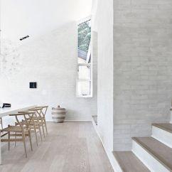 Modern White Leather Club Chair Saucer Moon Minimalist Scandinavian Interior Design By Norm