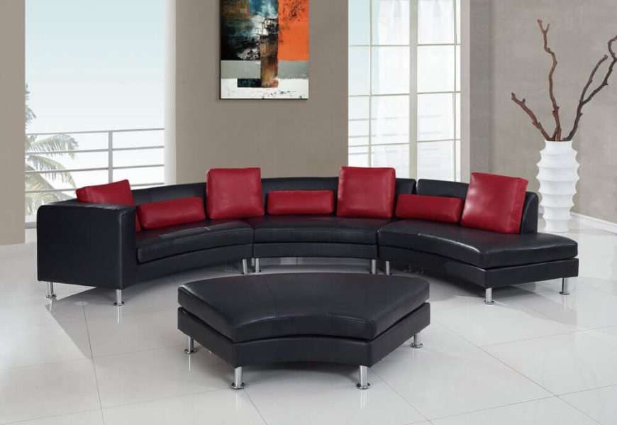 simmons small sectional sofa grey tufted toronto 25 contemporary curved and round sofas