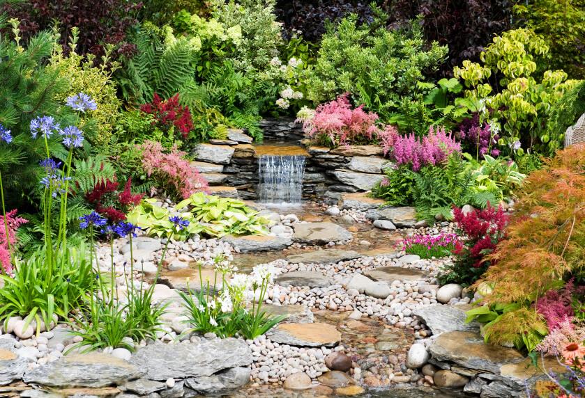 50 Pictures Of Backyard Garden Waterfalls Ideas & Designs