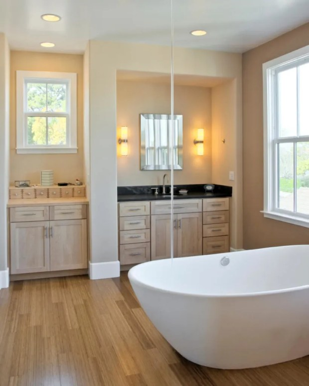 Bathroom Wood Flooring Home Design Ideas