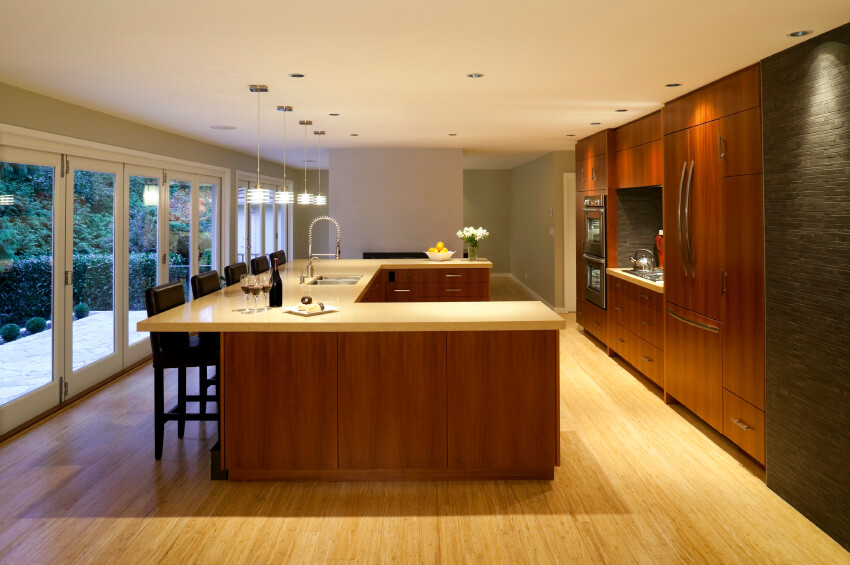 Image Result For Cherry Kitchen Cabinets With Quartz Countertops