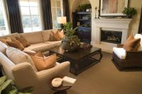 25 Gorgeous Living Rooms Featuring Comforting Earth Tones ...