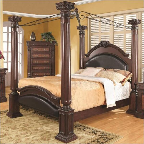 Cherry Wood Canopy Bed