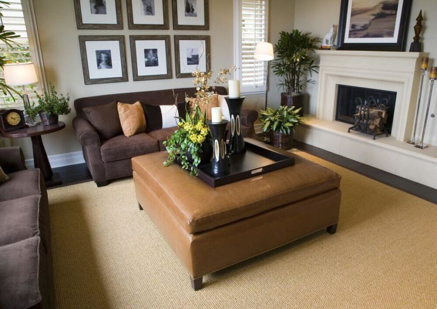 22 Sophisticated Living Rooms With Leather Furniture (DESIGNS