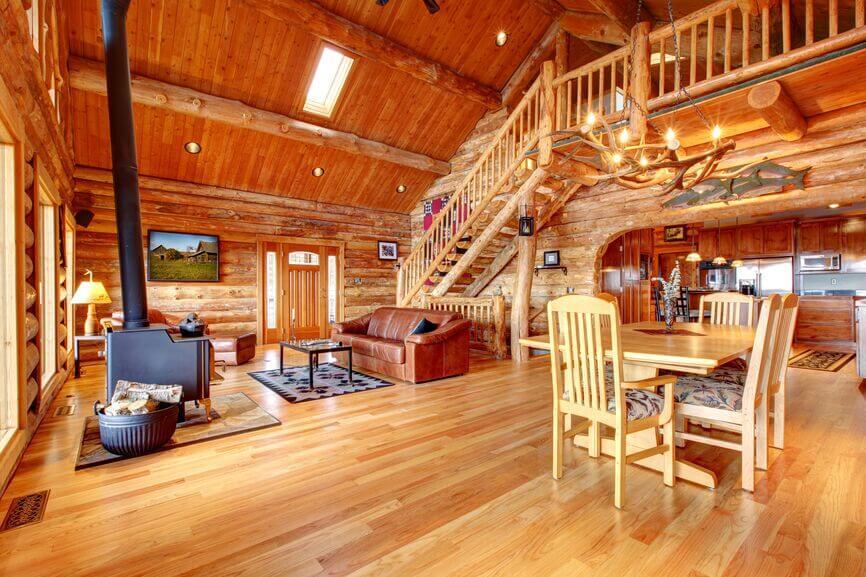 sofa wood frame exposed uk crushed velvet set 32 spectacular living room designs with beams ...