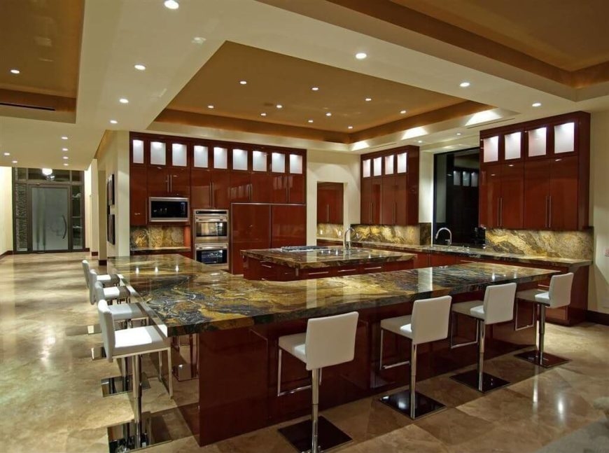 recessed kitchen lighting single bowl cast iron sink 46 ideas fantastic pictures small can lights are into the ceiling which in turn is surrounded by