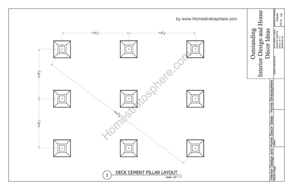medium resolution of 12x16 deck with stairs plan page 02