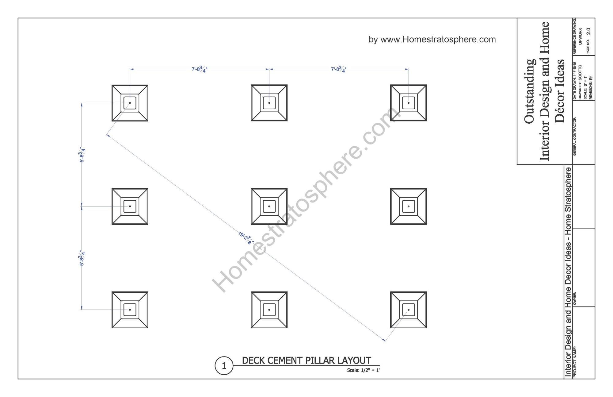 hight resolution of 12x16 deck with stairs plan page 02