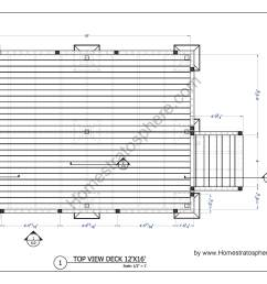 free 12 x 16 deck plan blueprint with pdf document download pirate ship deck diagram deck design diagram [ 3400 x 2200 Pixel ]