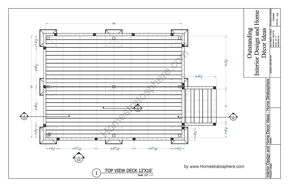 medium resolution of free 12 x 16 deck plan blueprint with pdf document download pirate ship deck diagram deck design diagram