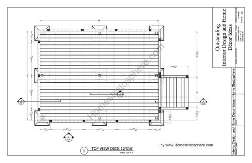 small resolution of free 12 x 16 deck plan blueprint with pdf document download pirate ship deck diagram deck design diagram