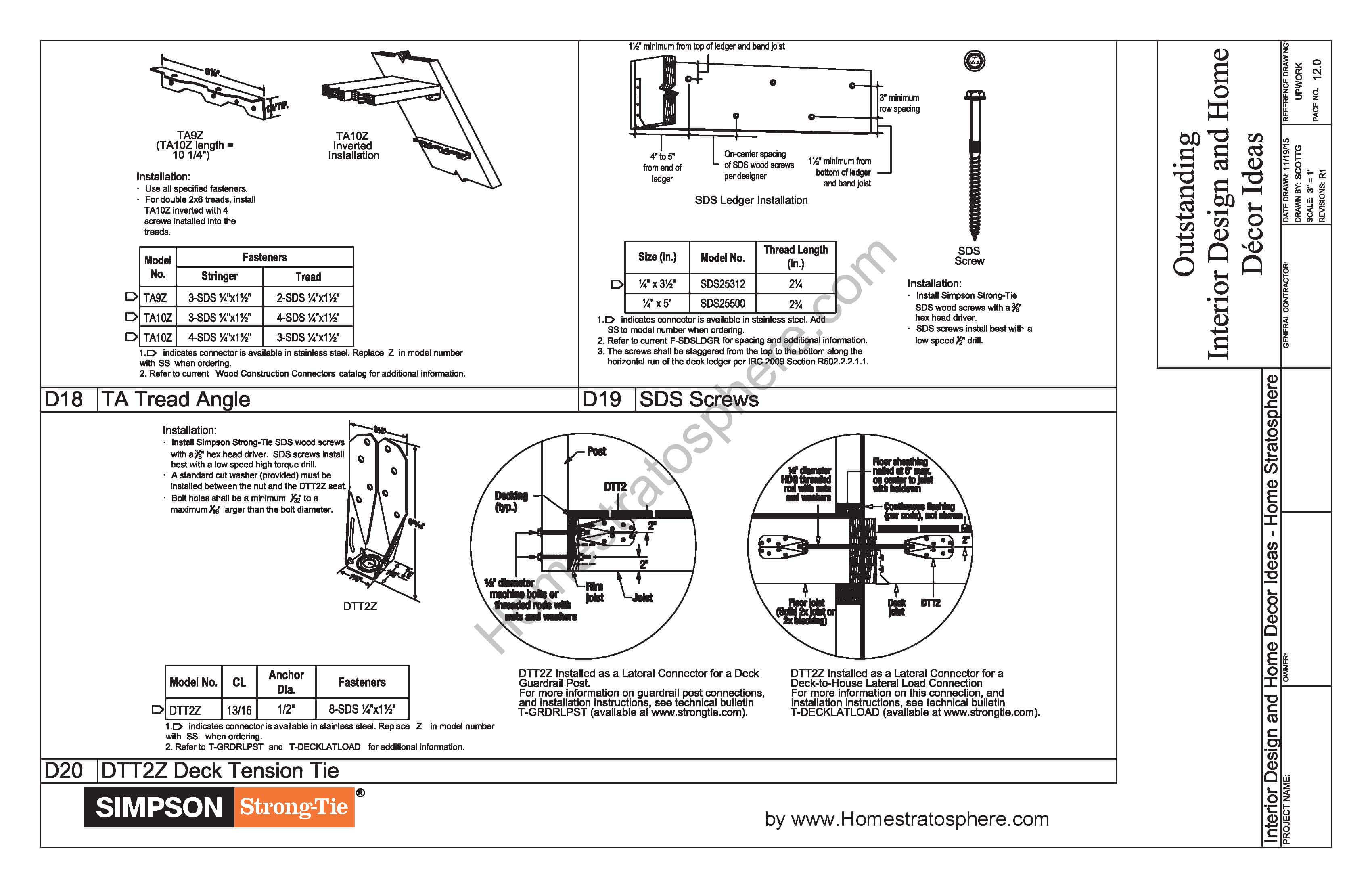 Free 12' X 16' Deck Plan Blueprint (with PDF Document