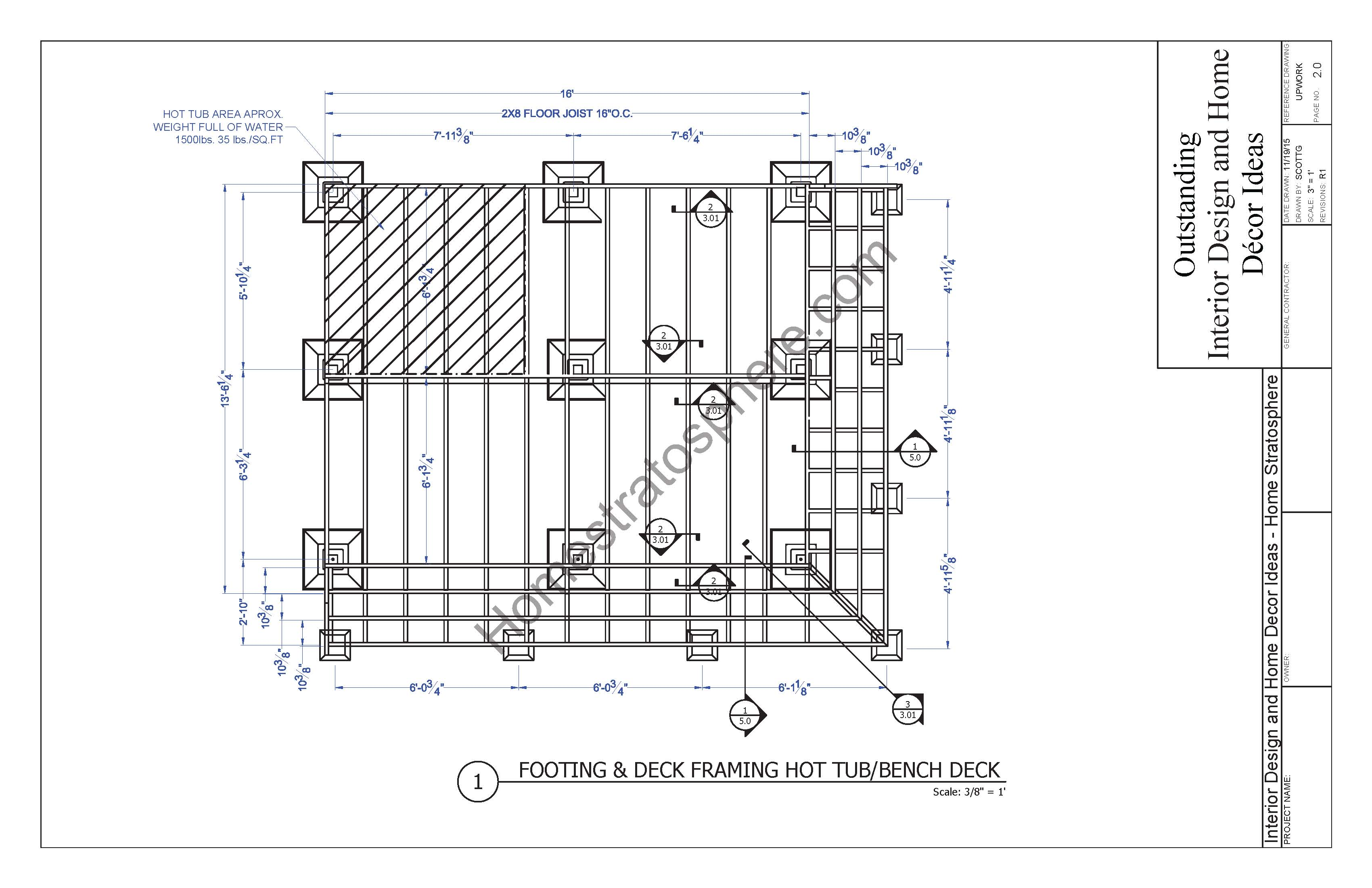 Hot Tub Deck Design Plan (Free PDF Download)