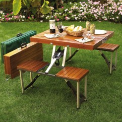 Folding Chair Picnic Table Best Baby Swing Uk 31 Alluring Ideas Here Is A Portable With Wooden Look This Model Folds Up Into