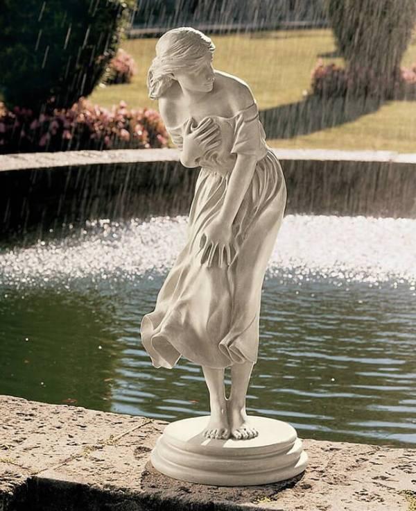 interesting backyard sculpture