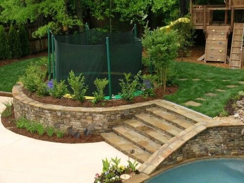 fun backyard trampoline ideas