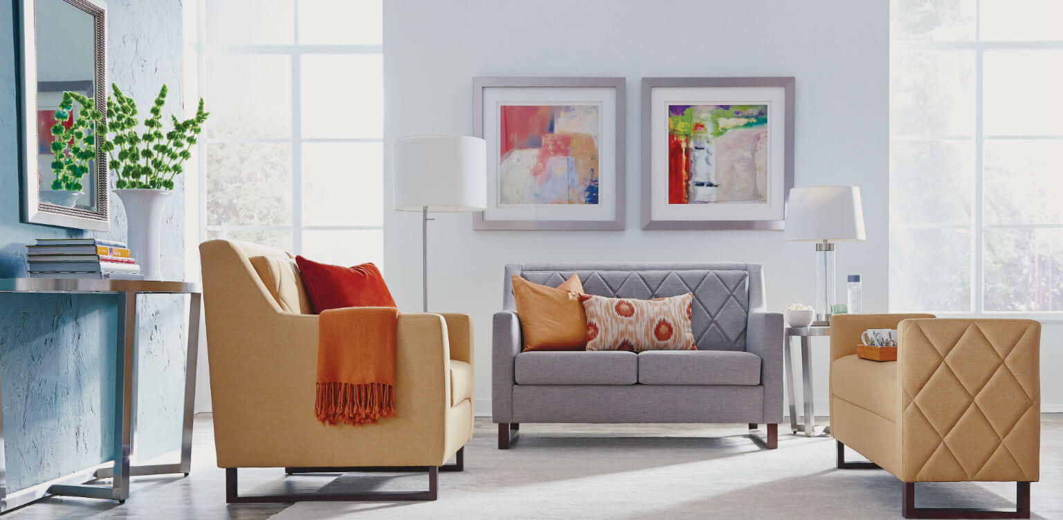 flexsteel sofa sets american leather parker reviews senior living furniture for communities