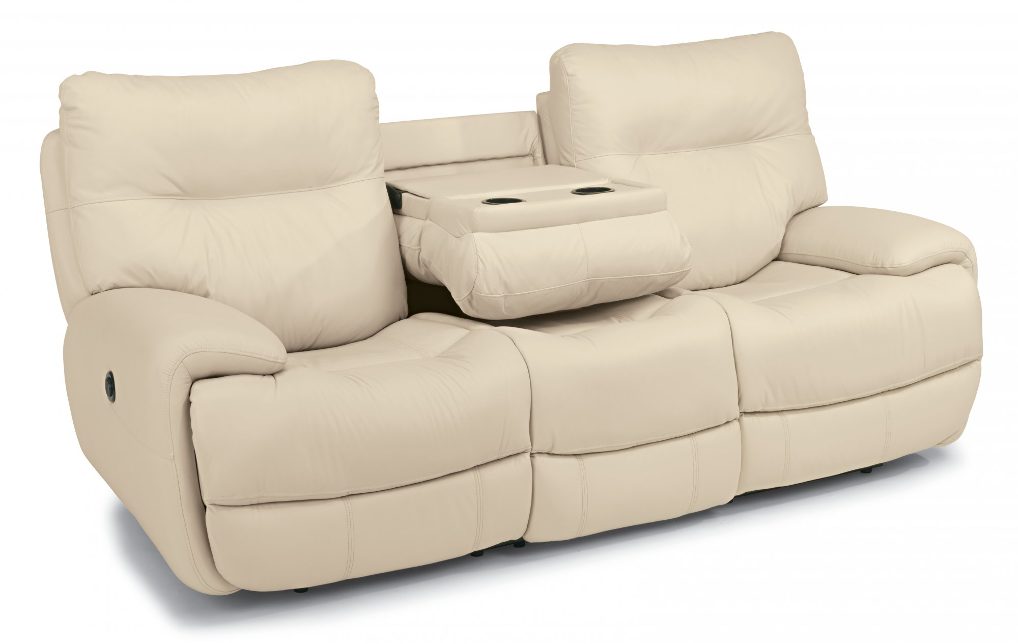 flexsteel double reclining sofa reviews sling outdoor evian leather power w c shaped arms share via email download a high resolution image
