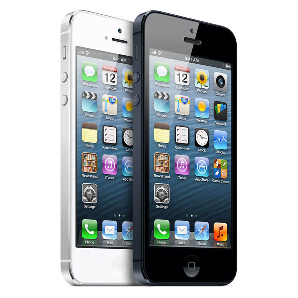 iPhone 5 negro y blanco