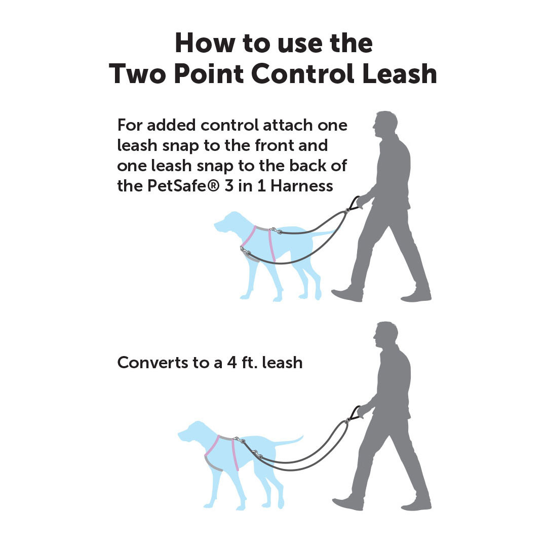 3 in 1 Harness with Two Point Control Leash by PetSafe