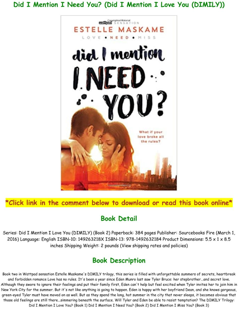 Did I Mention I Need You Pdf : mention, DOWNLOAD, $PDF$], Mention, (DIMILY)), Books:, Text,, Images,, Music,, Video, Glogster, Interactive, Multimedia, Posters