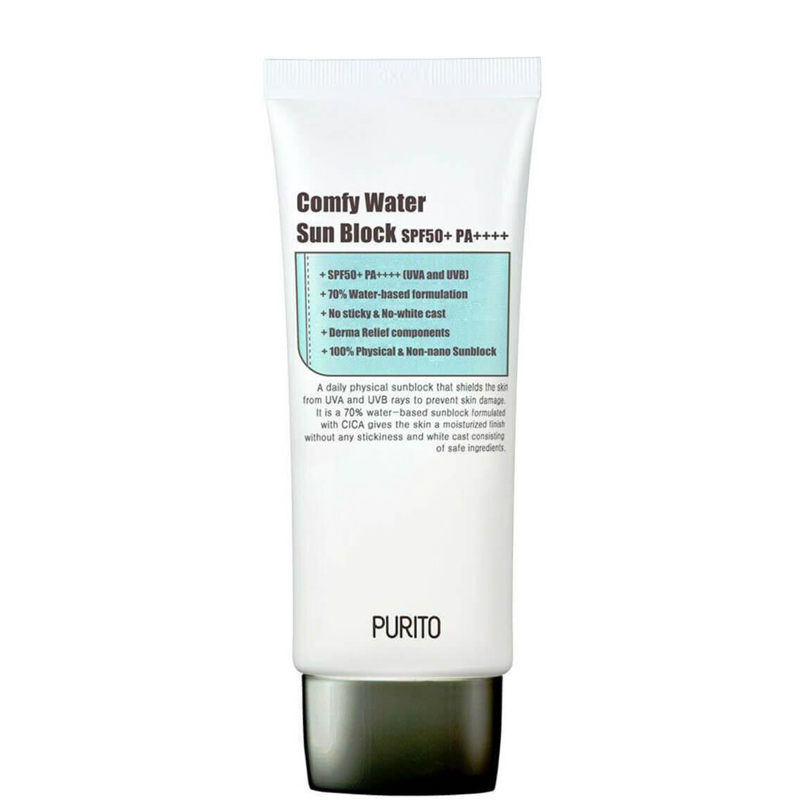 PURITO Comfy Water Sun Block SPF50+ PA++++ 60ml   Beauty Hub