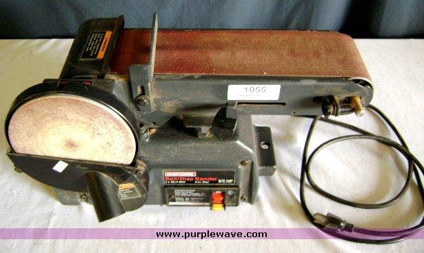 Craftsman Belt Disc Sander 2 3 Hp