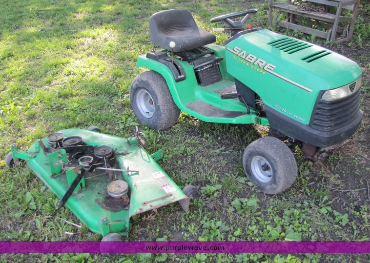 John Deere Sabre Lawn Tractor With Mower Attachment