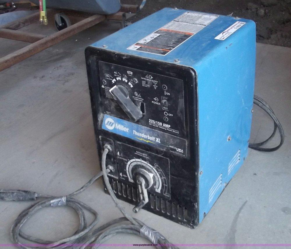medium resolution of miller thunderbolt xl ac dc welder item g9259 sold sept lincoln sa 200 parts diagram miller thunderbolt welder wiring diagram