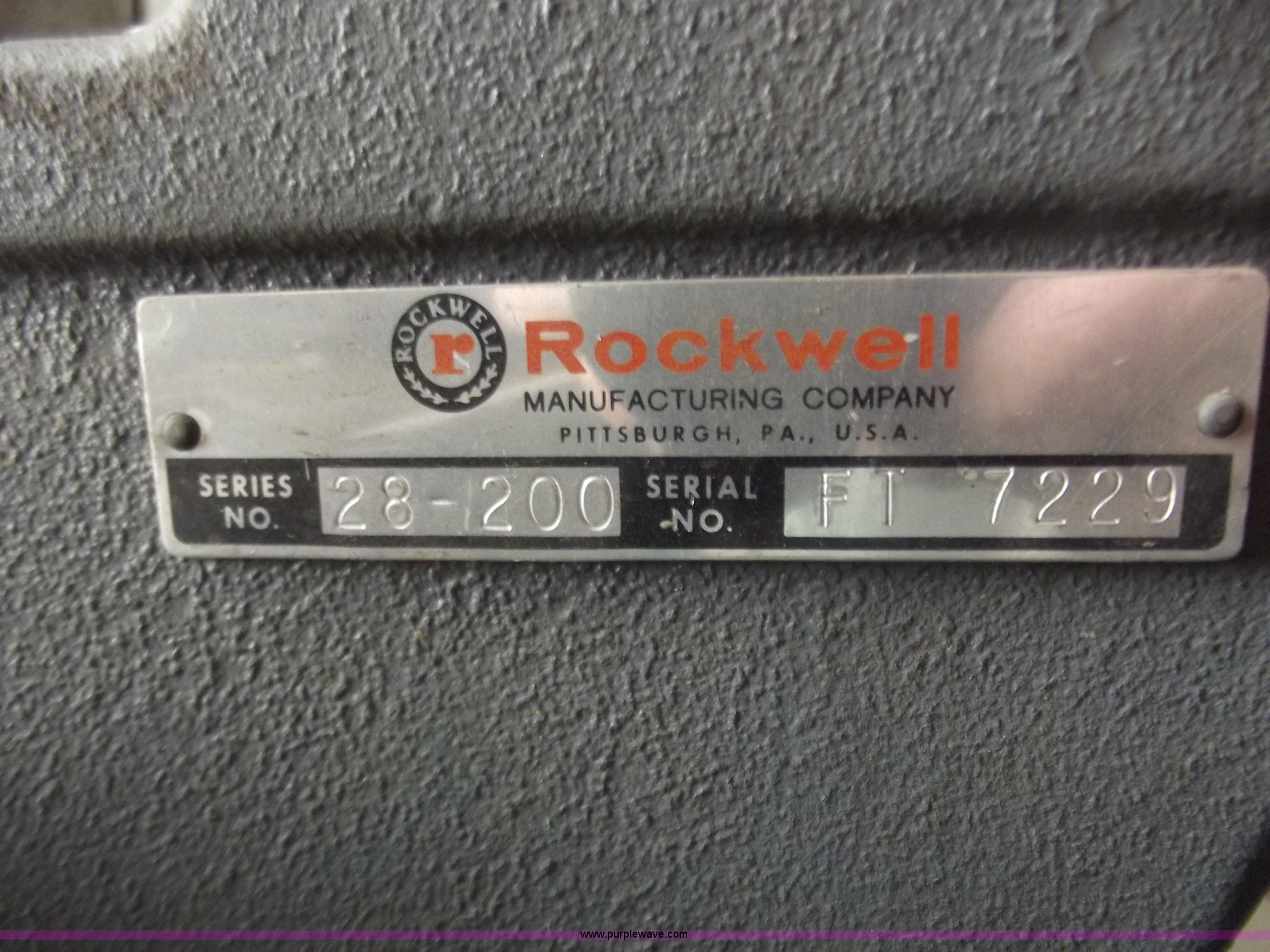 Rockwell Band Saw 28 200